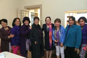 Community education photo - Tina with Fillipino women